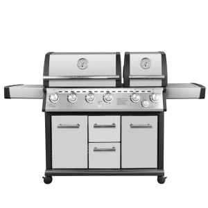 Gas BBQ 6B (4+2) with side burner and rear burner