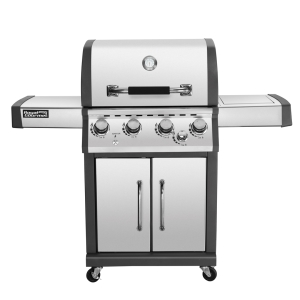 Gas BBQ 4B with side burner and rear burner